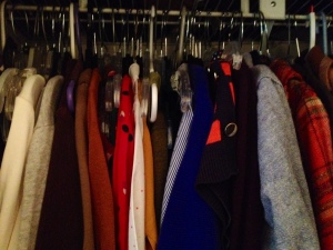My crammed closet back in March, right before I cleaned it out and started Project 333